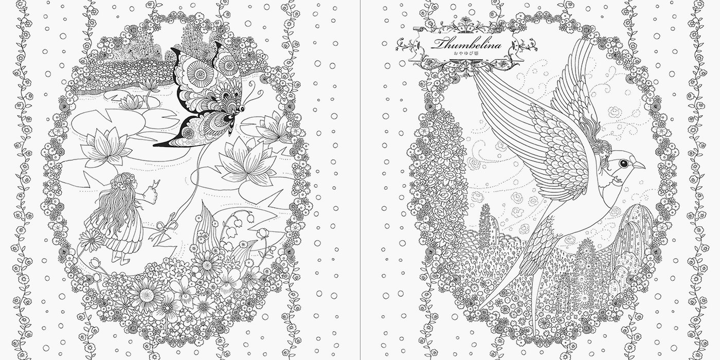 Coloring Book Week Princesses And Fairies Colouring By Tomoko Tashiro