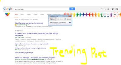 screenshot of google search gay marriage