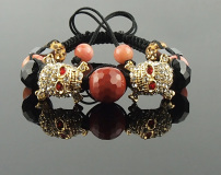 Crystal Skull Shamballa Bracelet