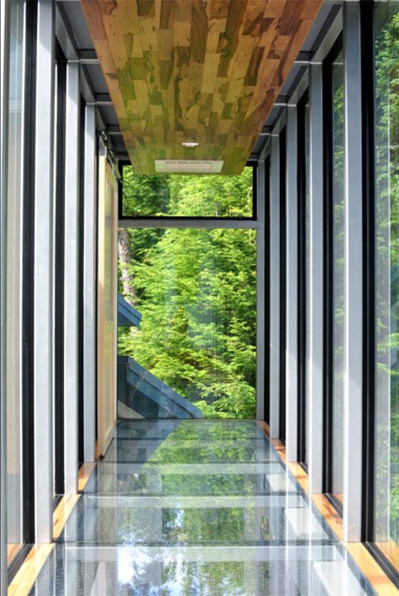 Seattle glass block glass floor skybridge designed by for Glass block floor