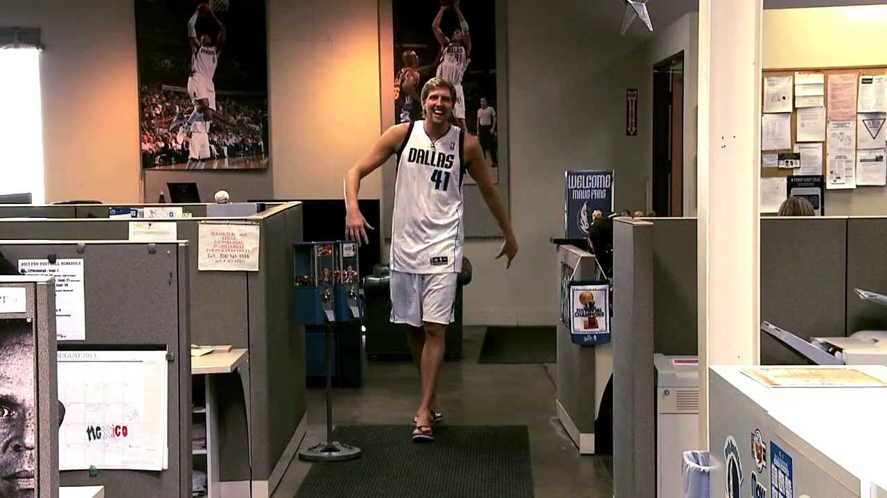 Dirk Nowitzki spoofs GEICO's Hump Day Commercial  Funny!