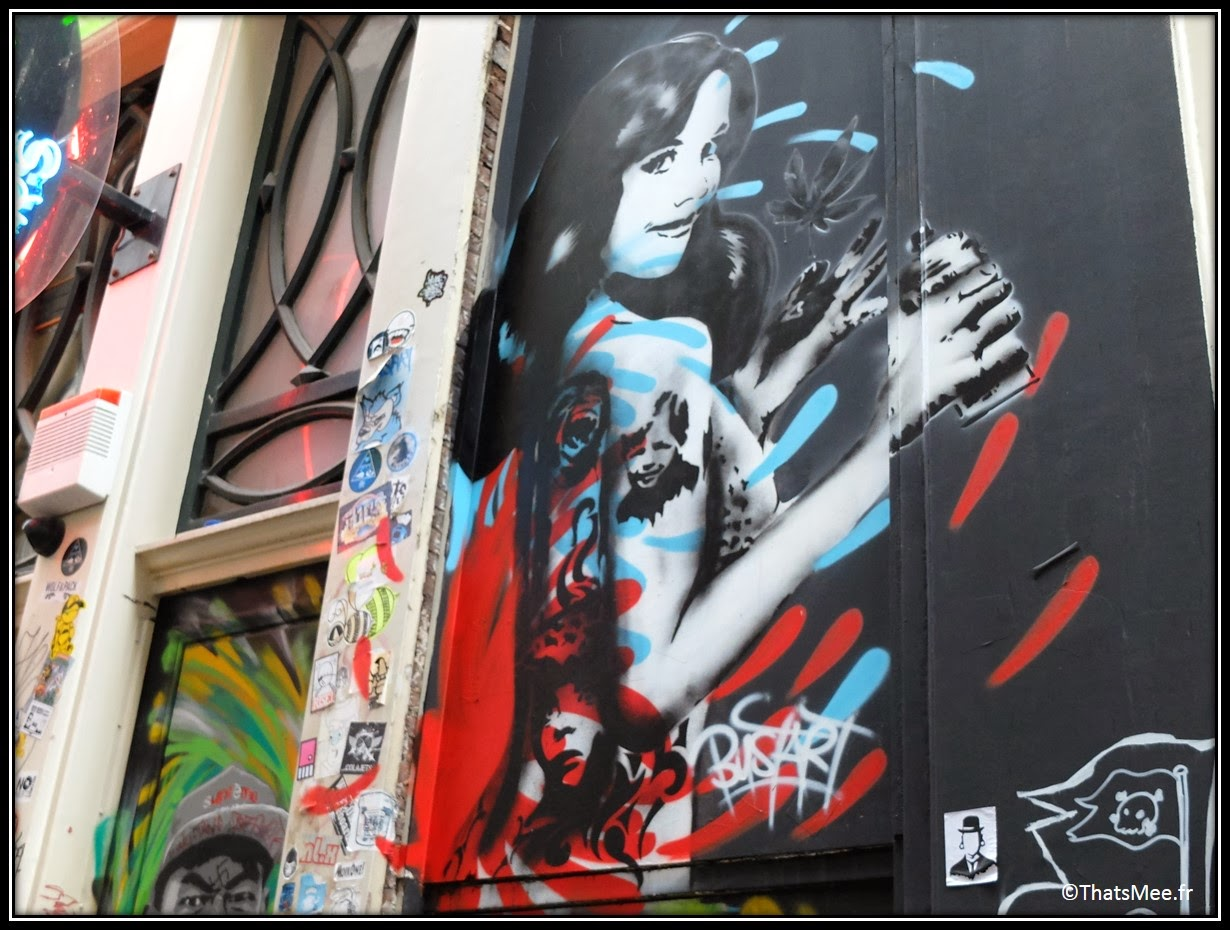 Street Art Wijdesteeg Parking Amsterdam spuistraat pin-up Dita von teese