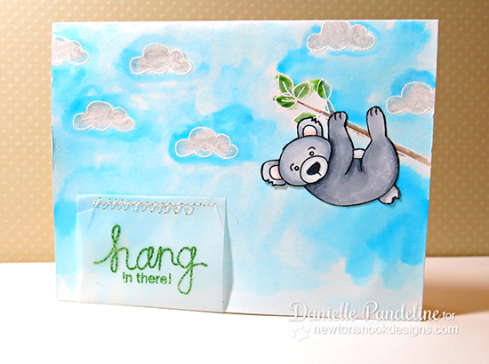 Hang in there Koala Card by Danielle Pandeline for Newton's Nook Designs | Hanging Around Stamp Set