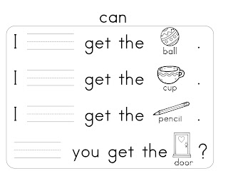 words: will, kindergarten  out, our, word Sight books sight like, can, play, good, look, for get, want printable