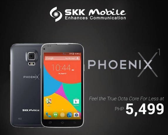 SKK Mobile Phoenix X1 Now Official, 5-inch HD Octa Core Phablet For Only Php5,499