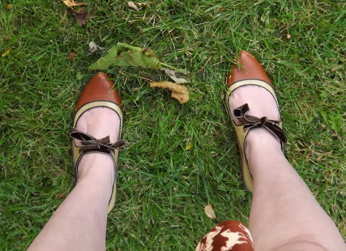 Poetic License shoes, Poetic License booties, Tease style shoes, brown booties, ribbon tie shoes, ribbon tie booties, vintage style shoes, A Coin For the Well