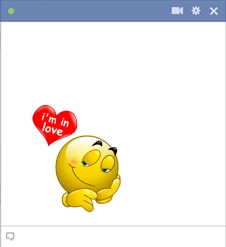 Facebook Love Emoticon Of Smiley In Love