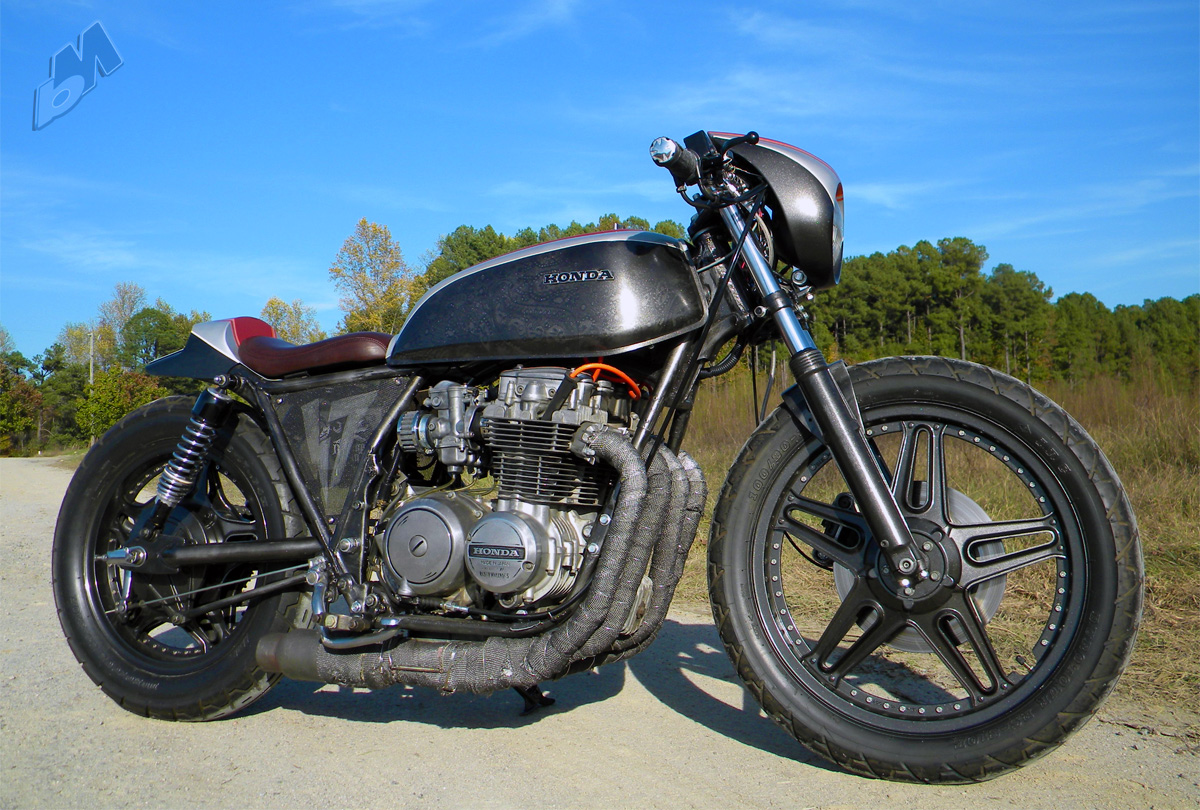 1979 honda cb650 cafe racer - right