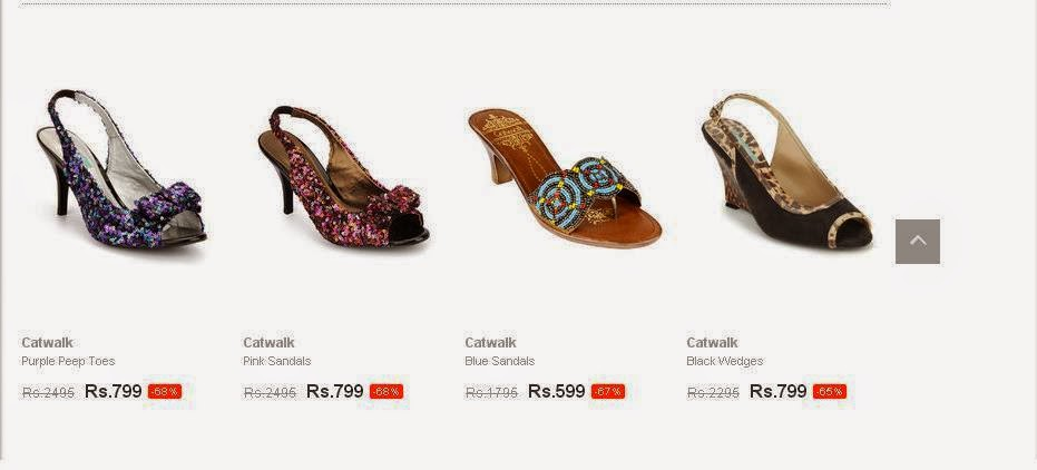 Shoppal.in offer on Catwalk heels from Jabong