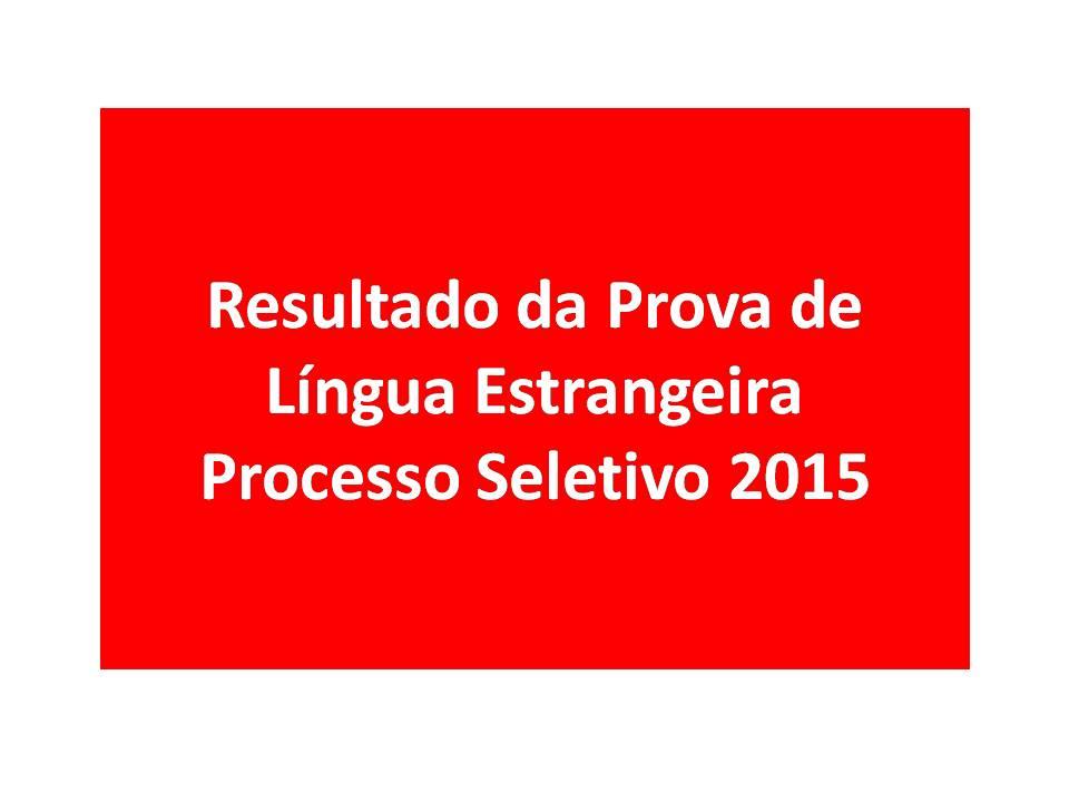 PROCESSO SELETIVO 2015