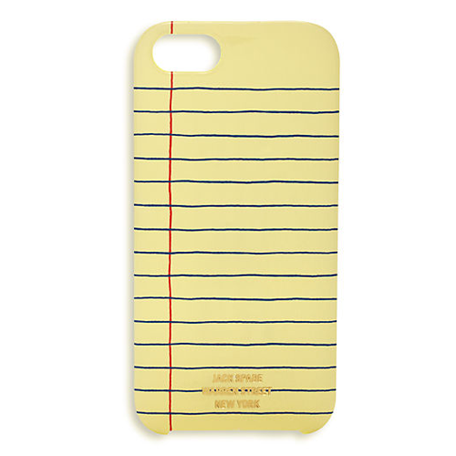 Legal Pad iPhone Cover from Jack Spade