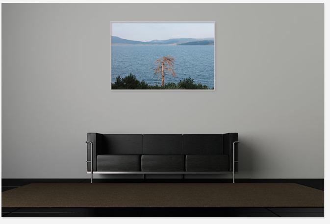 Interior room with Art picture decor