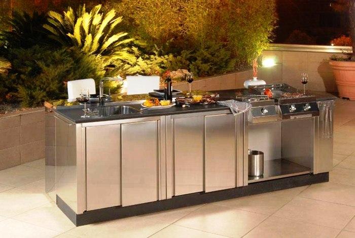 desain dapur outdoor modern elegan