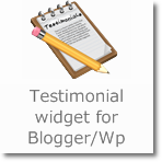 Testimonial Widget for Blogger/Wordpress