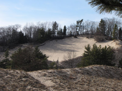 sand dune with boardwalk
