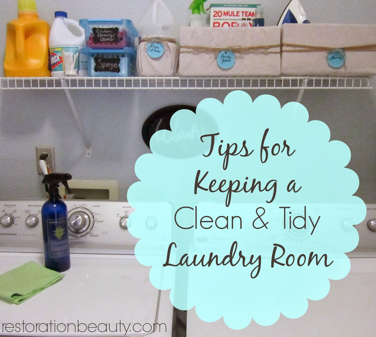 Tips for keeping a clean and organized laundry room