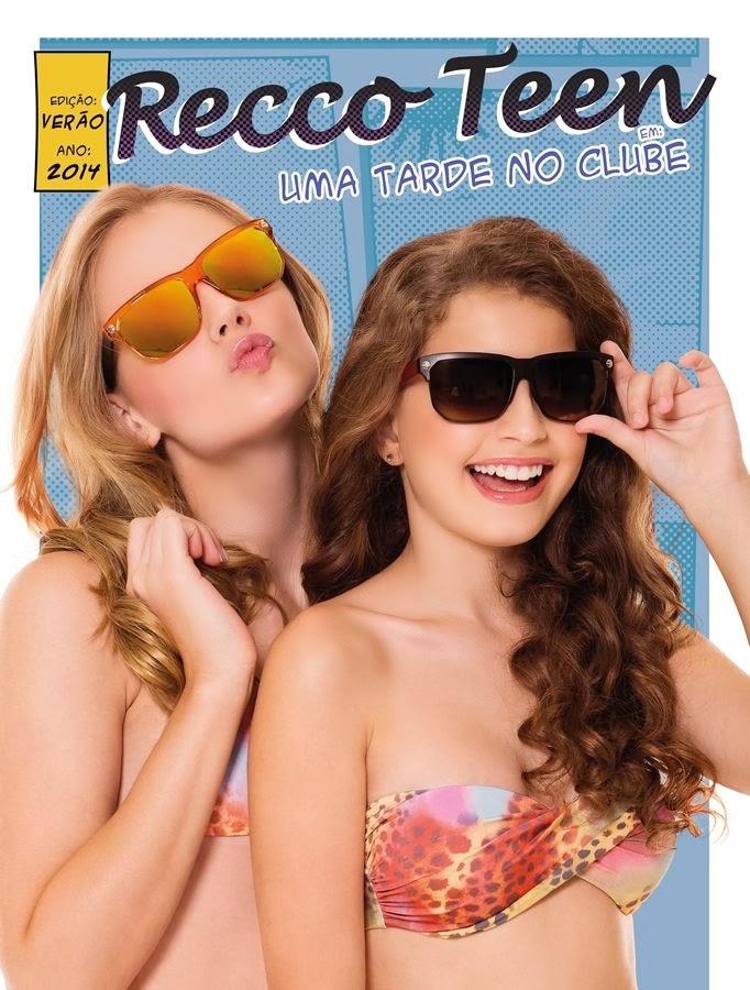 ... no catálogo de Verão 2014 da Recco Teen ! Parabéns Maria Eugênia