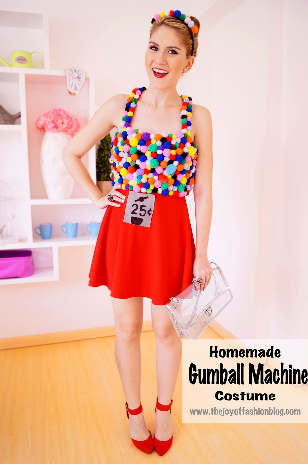 The joy of fashion halloween homemade gumball machine costume easy homemade gumball machine costume for halloween click through for full tutorial solutioingenieria