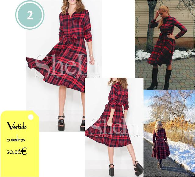 vestido_rojo_cuadros_shein