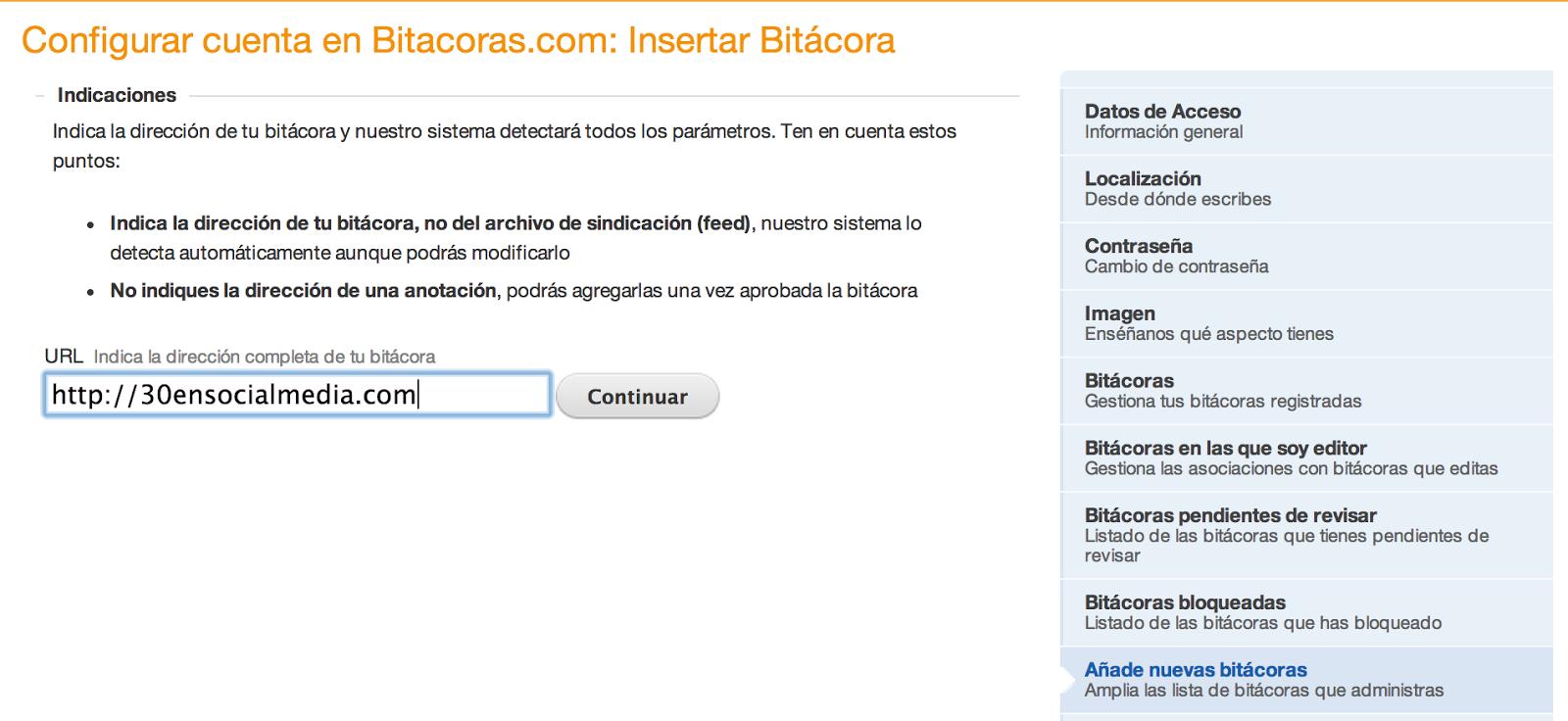 Añade tu blog a Bitácoras