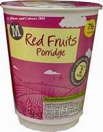 Morrisons red fruits porridge
