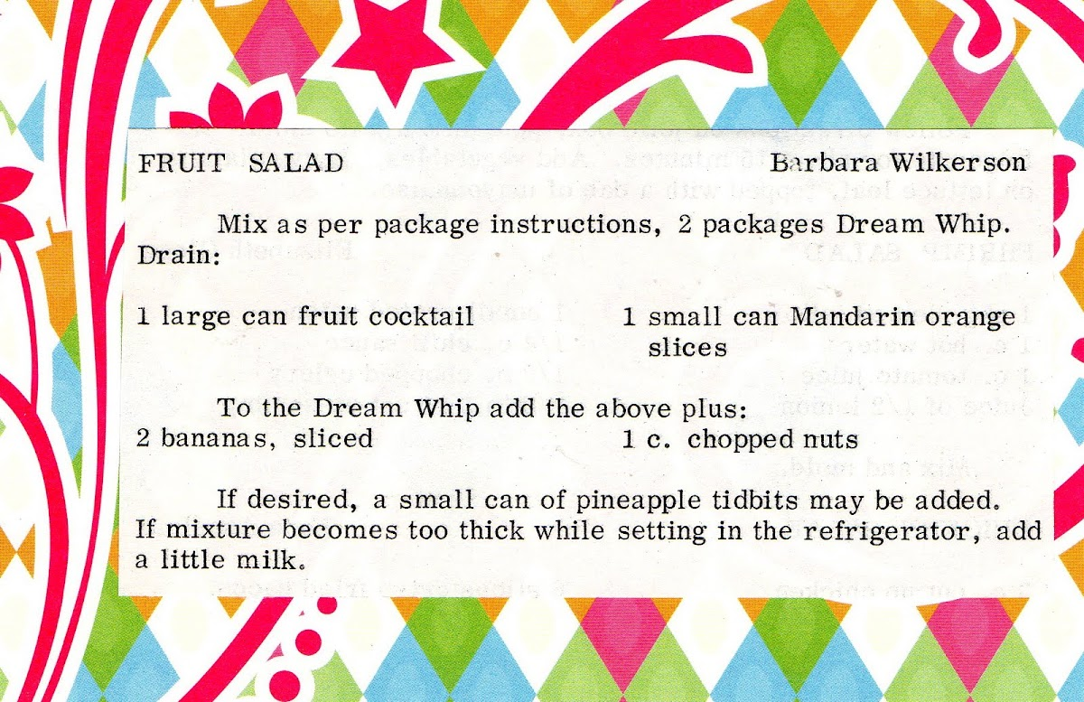 Fruit Salad (quick recipe)