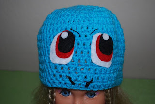 Squirtle crochet hat