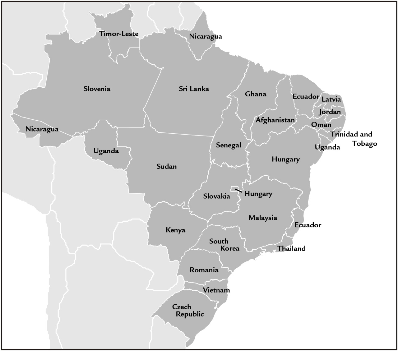 Brazilian states as countries with similar GDP