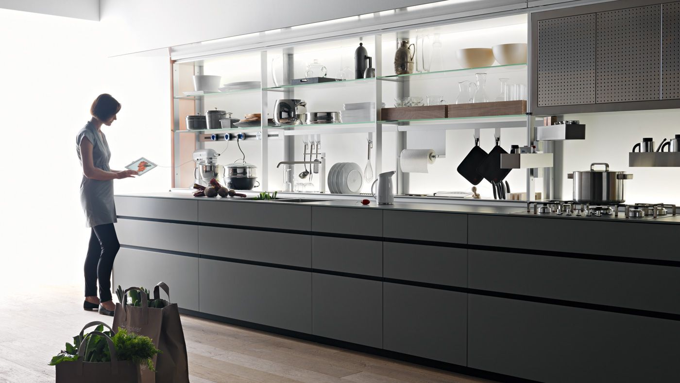 La cocina en l nea dise ada para estancias estrechas - Cocinas en linea ...