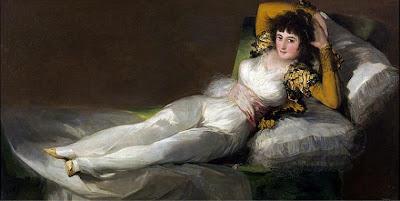 La maja vestida de Francisco de Goya, óleo sobre lienzo, 95 × 190 cm