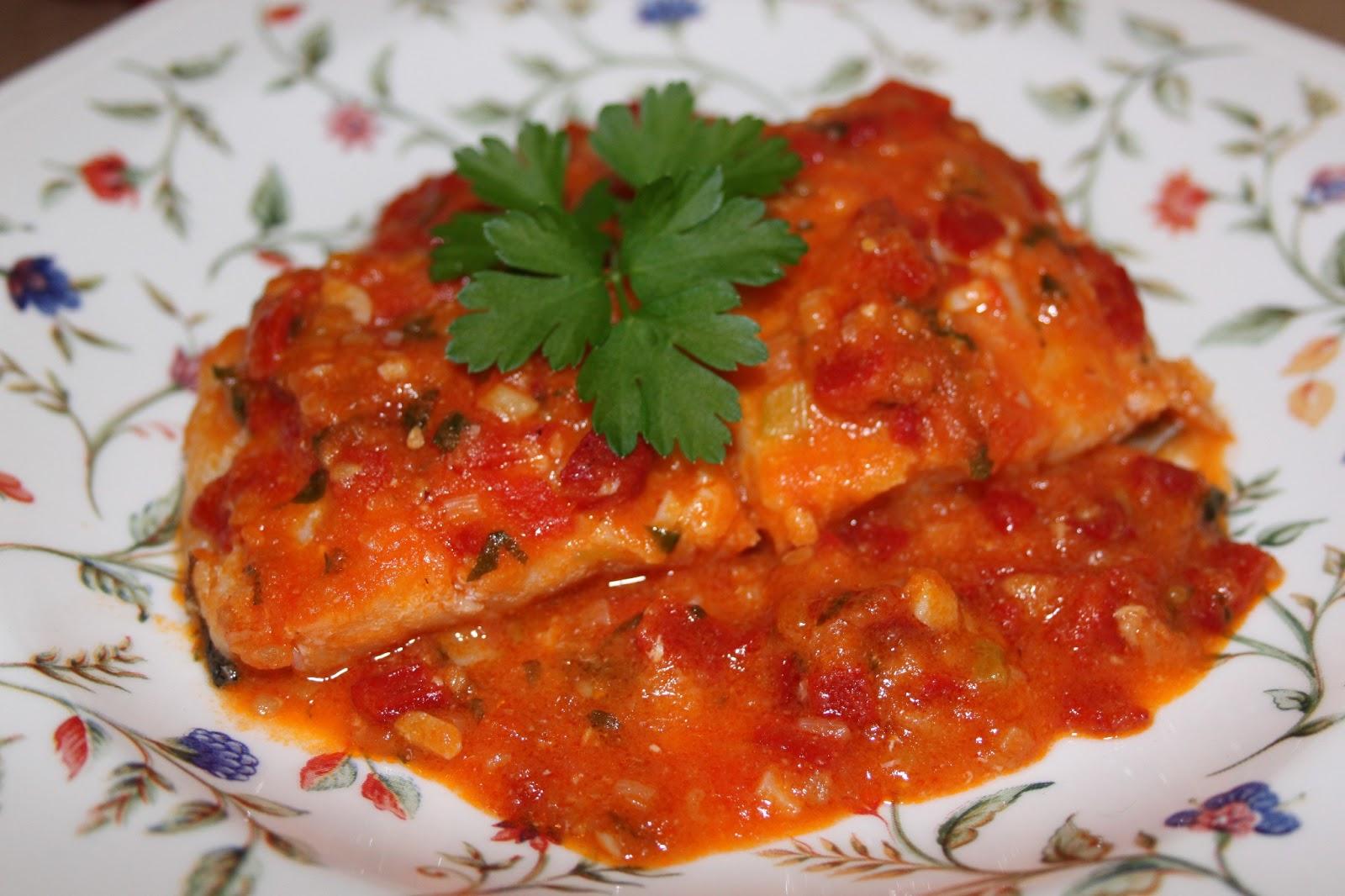 Cocinando entre dos mares bacalao fresco con salsa de - Bacalao fresco con tomate ...