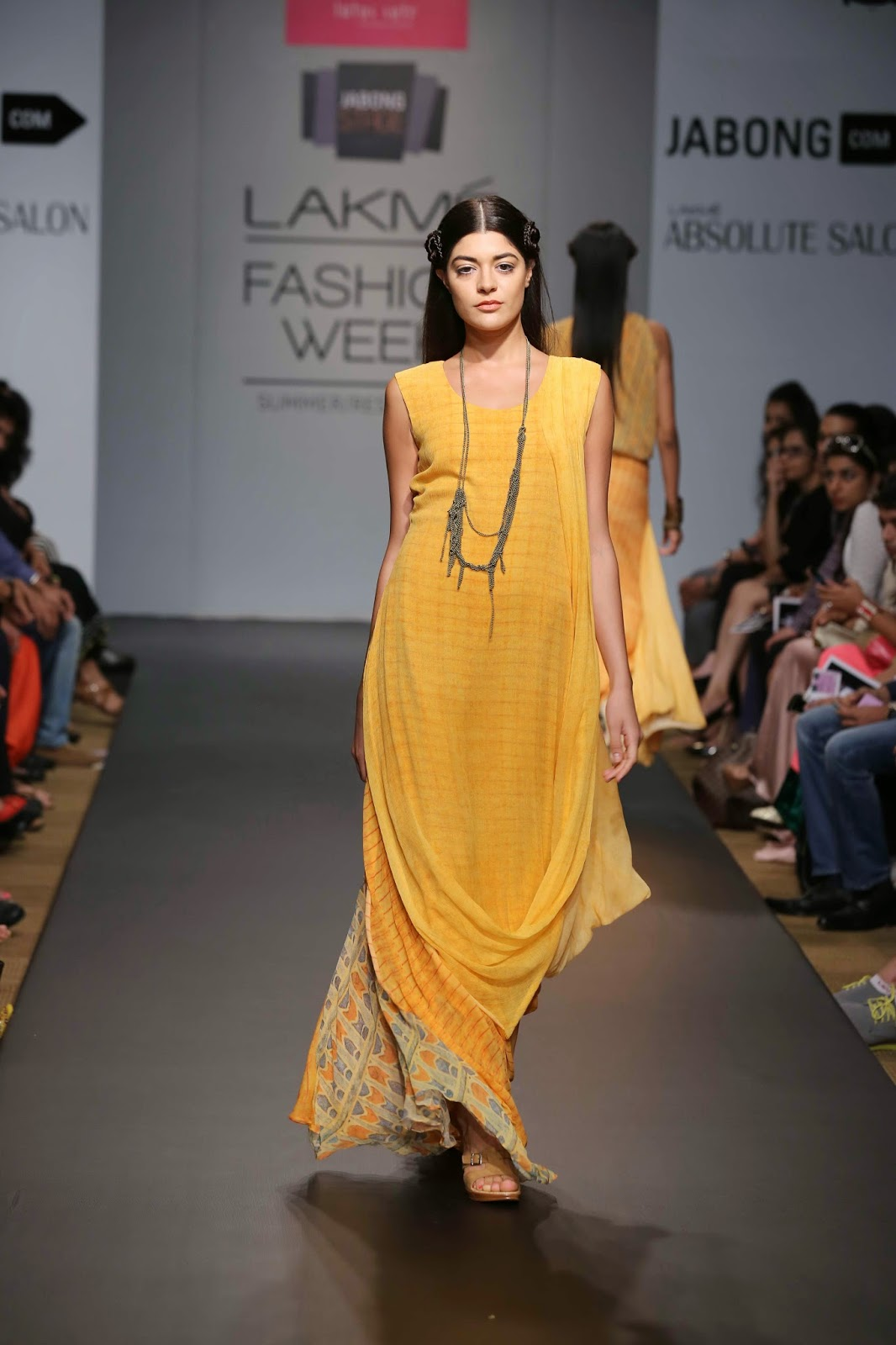 Karishma Jamwal under her 'Lotus Sutr' showcased an elegant, ethereal range inspired by Egyptian and Persian aesthetics and culture at Jabong Stage during Lakmé Fashion Week Summer/Resort 2014.