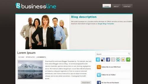 BusinessLine - Free Blogger Template