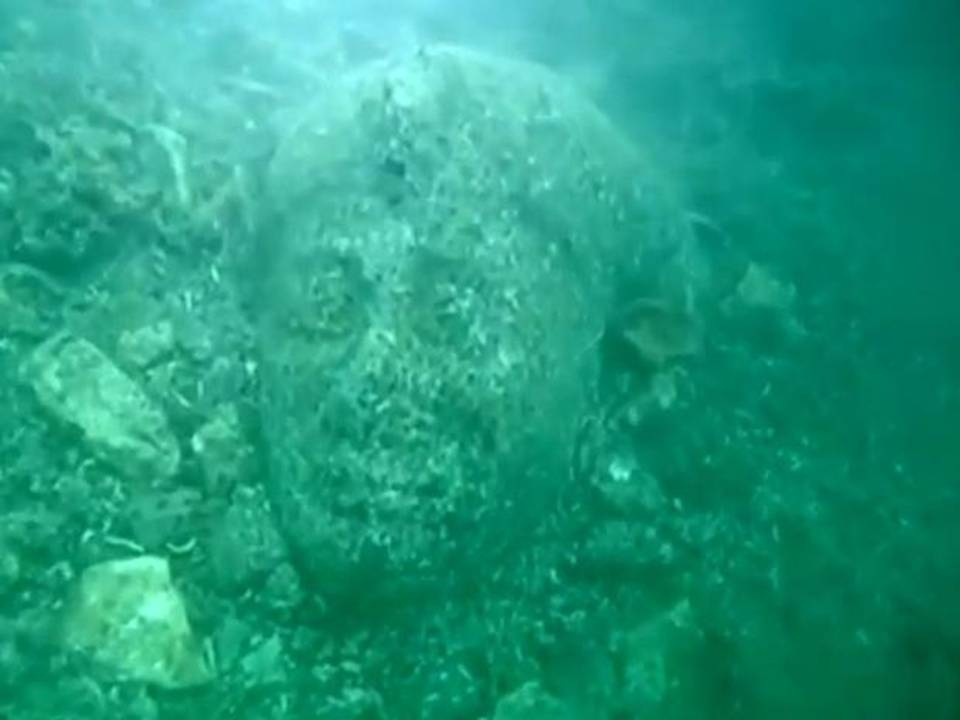 City of Heracleion sunk into the Mediterranean sea 1,200 ...