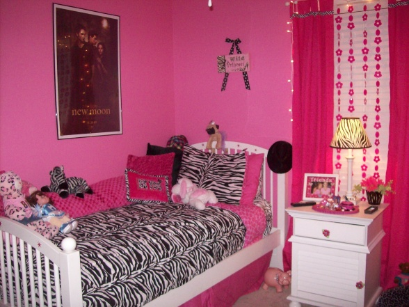 Girls Zebra Bedroom Ideas