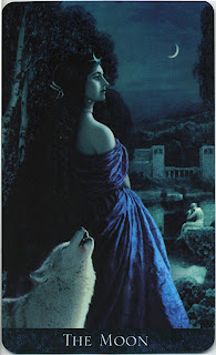 The Moon, from the Bohemian Gothic Tarot.