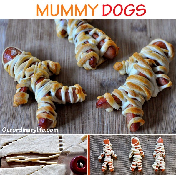 http://www.ourordinarylife.com/2013/10/hillshire-farm-ball-park-beef-mummy-dogs-recipe/
