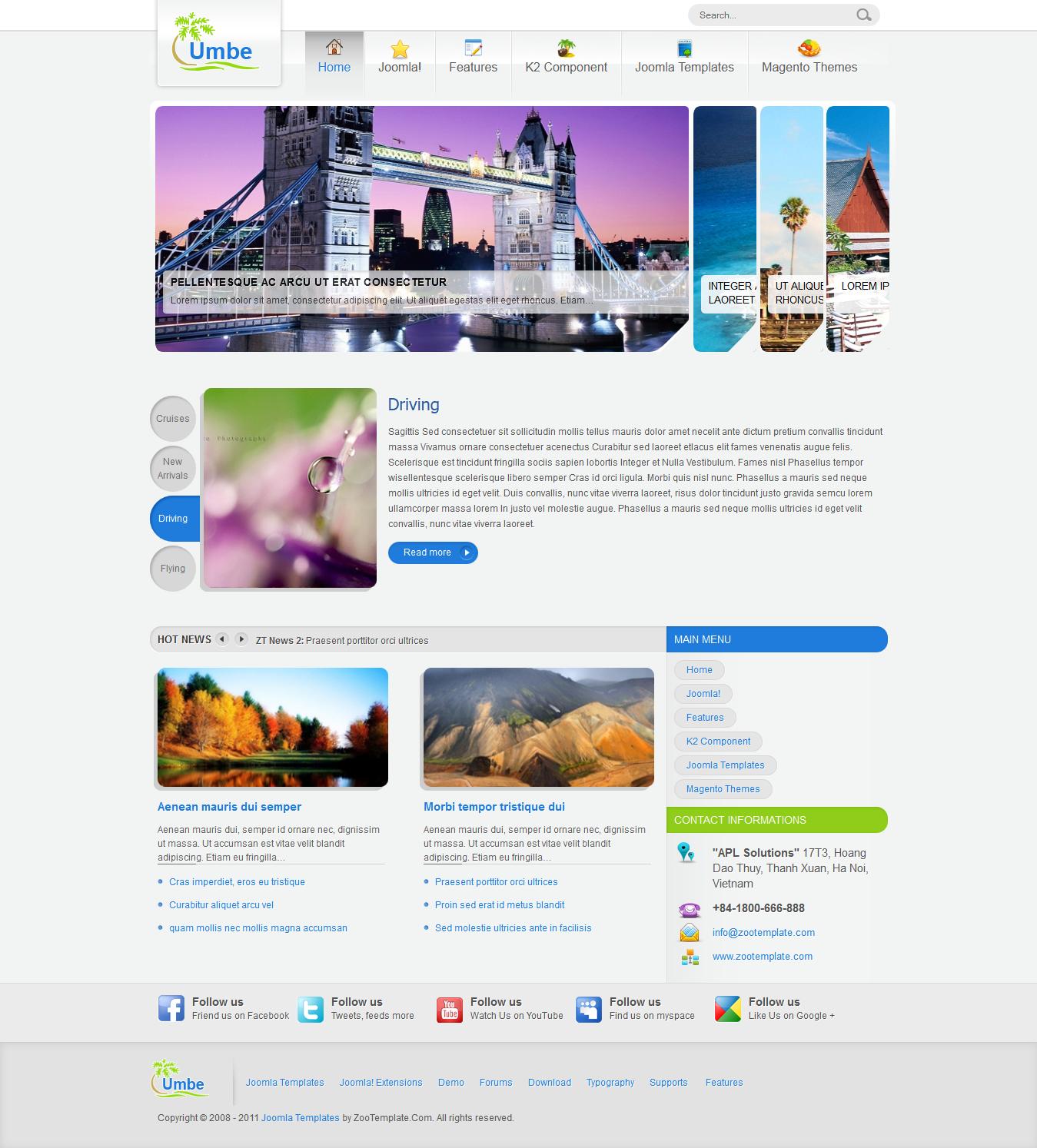 Share template ZT Umbe - Joomla 1.5-1.7