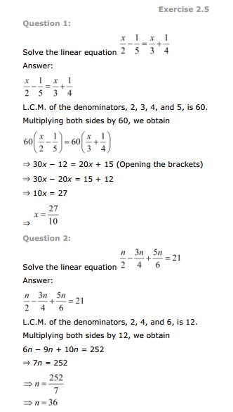 ncert maths class 8 exercise 2 2