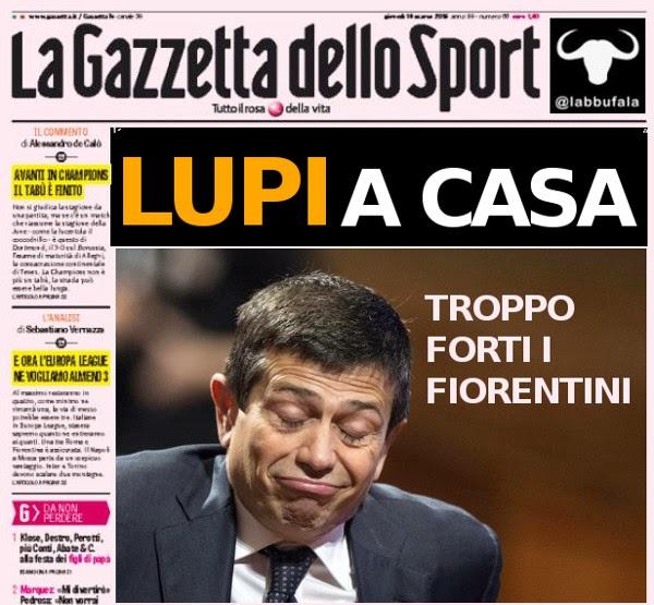 Lupi, Roma, Fiorentina, sport, calcio, satira