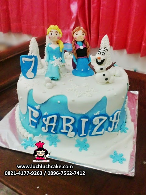 Kue Tart Fondant Frozen Disney Daerah Surabaya - Sidoarjo