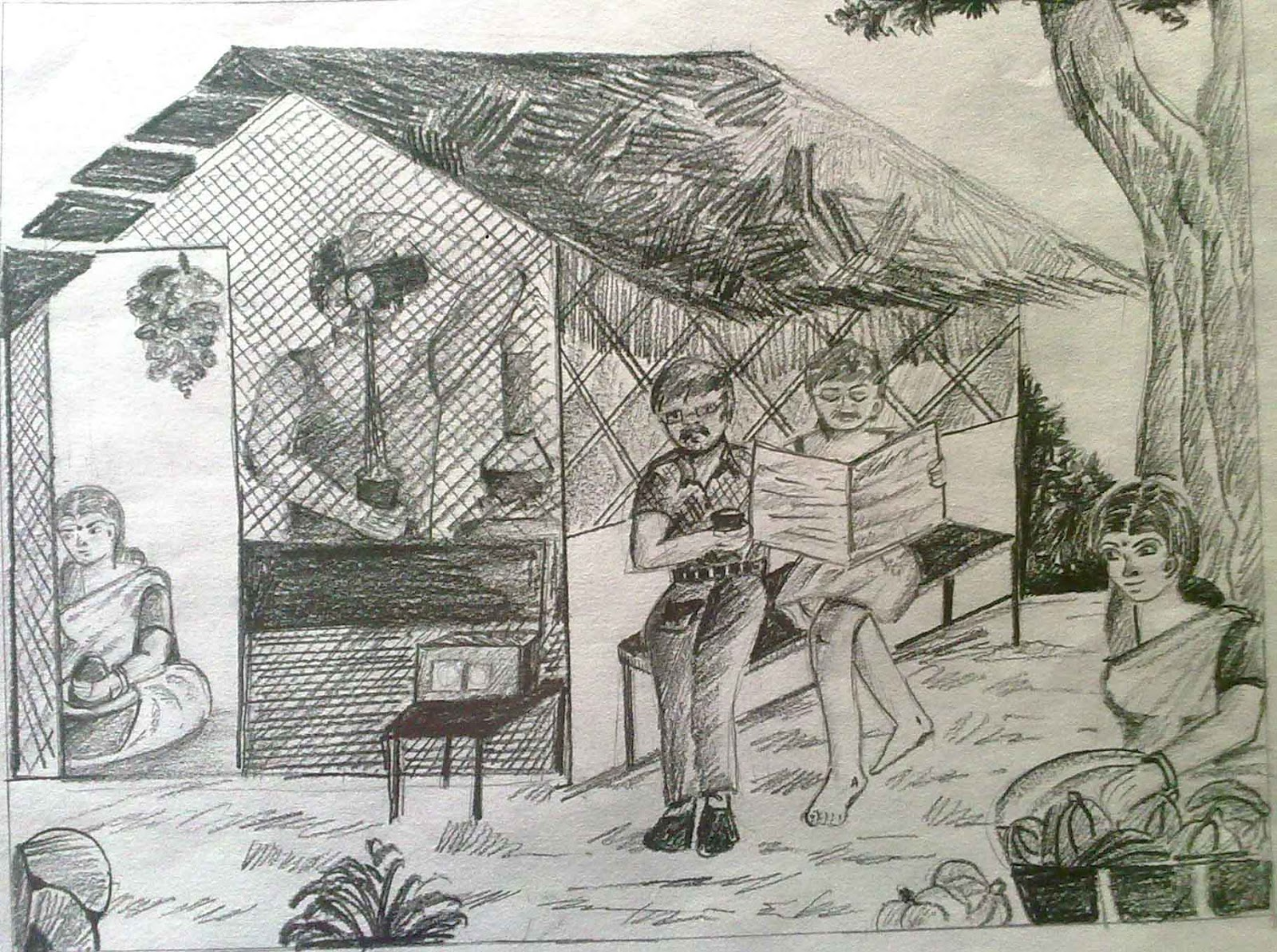 Vpkmmhss puthur pallikkal pencil drawing competition