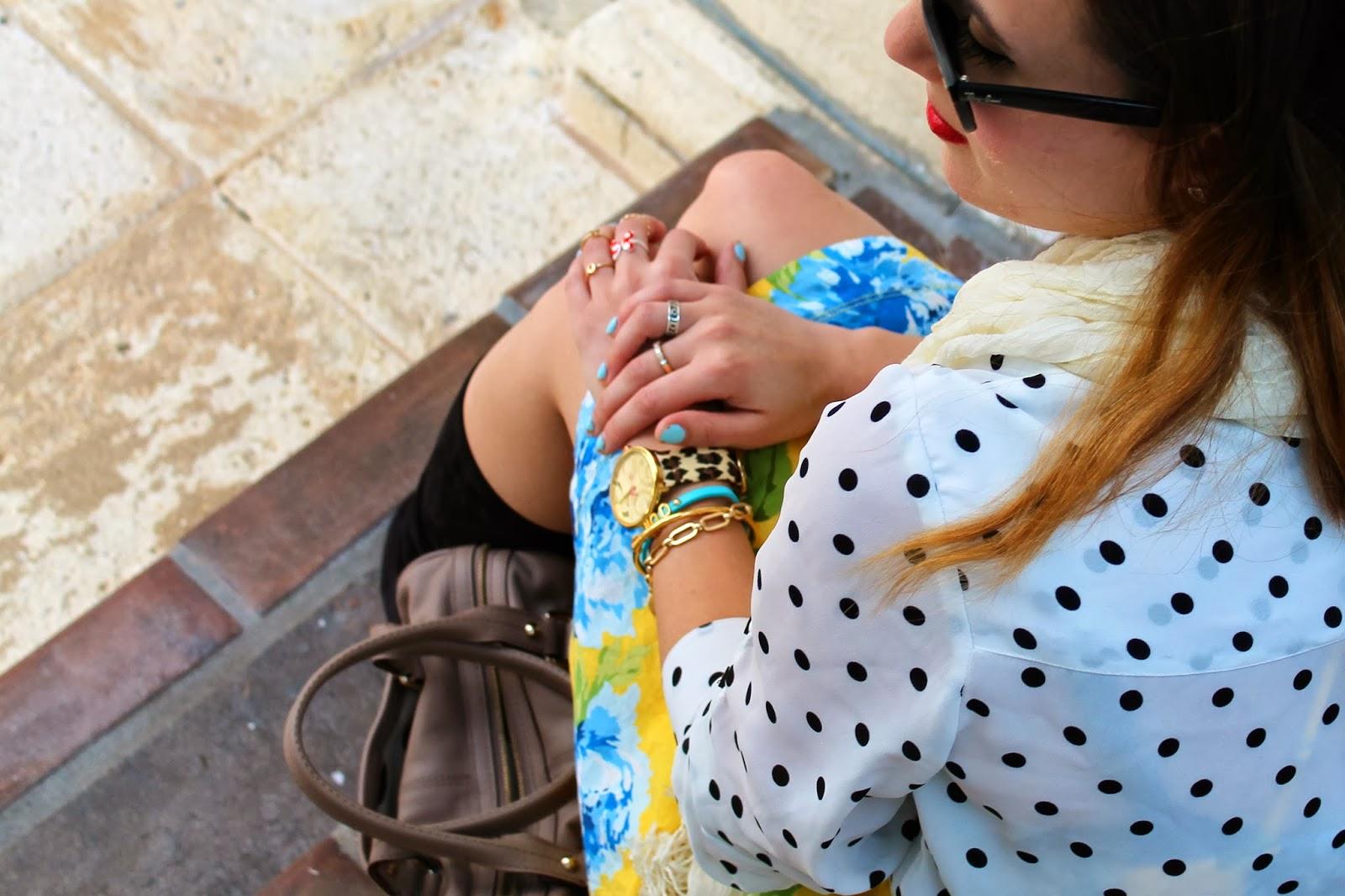 Kate Spade, prep, floral, polka dot, palm beach, fashion blog, Abercrombie&Fitch, Nordstrom, BCBGeneration, floral,