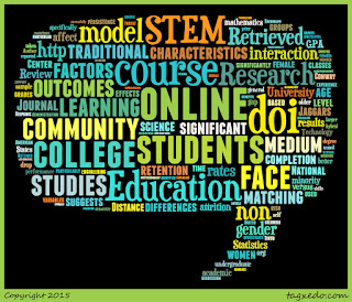 Word cloud of the article: The Online STEM Classroom--Who Succeeds