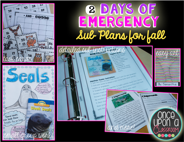 http://www.teacherspayteachers.com/Product/Emergency-Substitute-Teacher-Day-Plans-Low-Prep-2-Days-Worth-396317