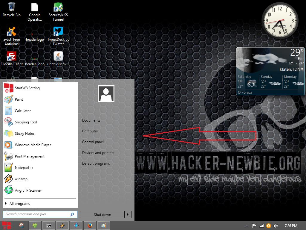 Membuat Tombol Start Menu pada Windows 8.