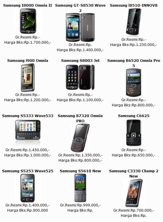 Daftar Harga Handphone Samsung April 2012 Terbaru