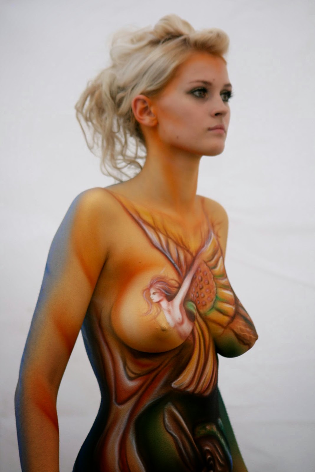 female art body painting photos