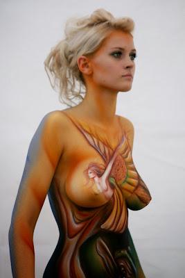 female art body painting photos