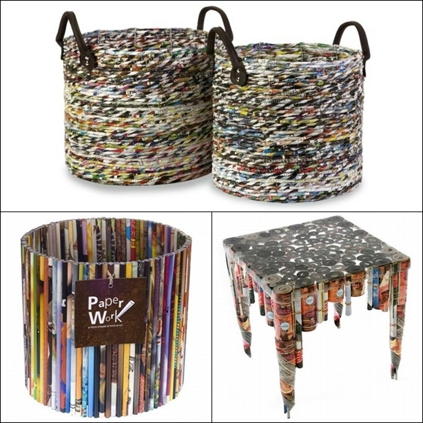 Foundation dezin decor recycled world of decor for Homemade items from waste materials